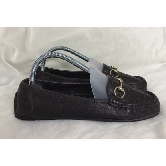 8e5209ae0c101 Gucci Shoes - Gucci Monogram Leather Horsebit Loafers Moccasins